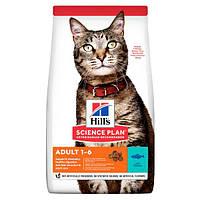Hills (Хиллс) Adult Optimal Care сухой корм для кошек с тунцом, 1.5 кг