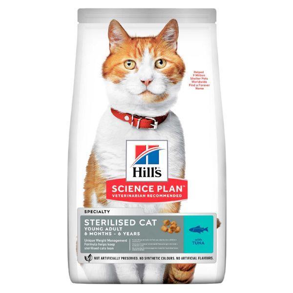 Hills (Хиллс) Young Adult Sterilised Cat сухой корм для стерилизованных кошек с тунцом, 10 кг