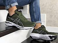 Мужские кроссовки в стиле Asics GT1000, сетка, пена, зеленые с белым 43 (27,5 см)