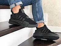 Мужские кроссовки в стиле Adidas Equipment adv 91-18, сетка, кожа, пена, черные *** 40 (25,5 см)