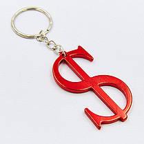 Брелок Доллар (металл, l-6,5см, 1уп.-12шт., цена за 1 шт) PZ-KP-42, фото 3