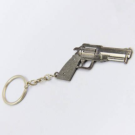 Брелок Пистолет (металл хром., цена за 1шт) PZ-FB-0759, фото 2