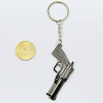 Брелок Пистолет (металл хром., цена за 1шт) PZ-FB-0759, фото 3