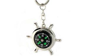 Брелок Штурвал-компас (металл хром., цена за 1шт) PZ-FB-3316, фото 2
