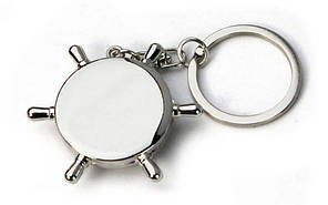 Брелок Штурвал-компас (металл хром., цена за 1шт) PZ-FB-3316, фото 3