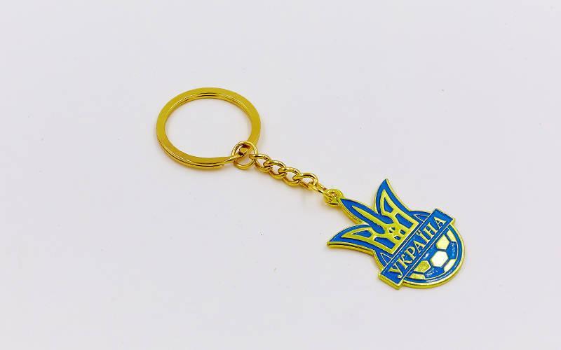 Брелок Футбол Украина (металл хром., цена за 1шт) PZ-FB-5597