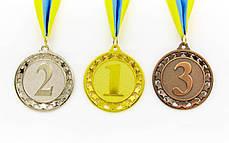 Медаль спортивная с лентой STROKE d-6,5см (металл, d-6,5см, 44g золото, серебро, бронза) PZ-C-4330, фото 2