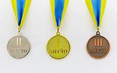 Медаль спортивная с лентой WORTH d-4,5см (металл, d-4,5см, 20g золото, серебро, бронза) Золотой PZ-C-4520_1, фото 2
