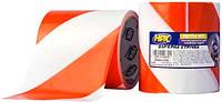 Лента барьерная HPX 100 мм х 50 м бело-красная (рулон со стикером) B10050