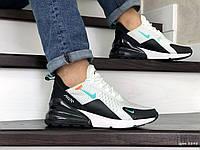 Мужские кроссовки в стиле Nike Air Max 270, сетка, пена, белые с черным 41 (26 см)