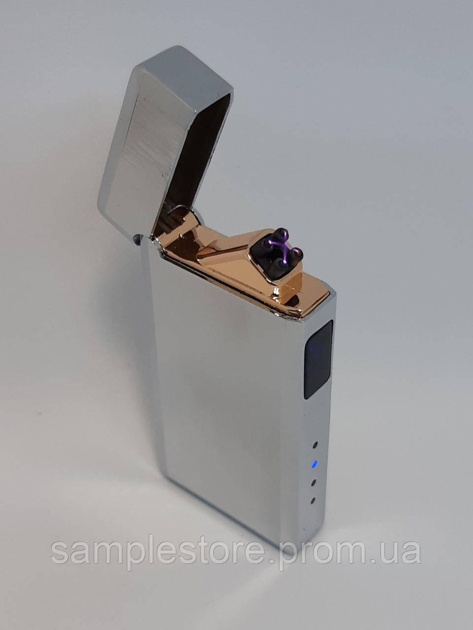 Электроимпульсная Usb зажигалка две дуги Universe Silver