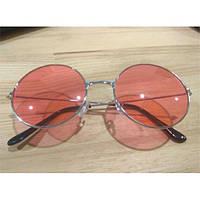 Очки солнцезащитные круглые SEKINEW UV400 красно-серебристый