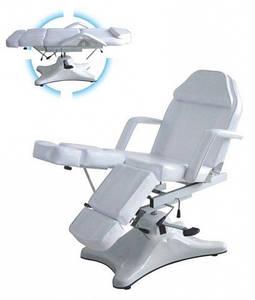 Педикюрное кресло кушетка косметологическая на гидравлике ZD-823A ( цвет обивки белый,красный, черный,шоколад)