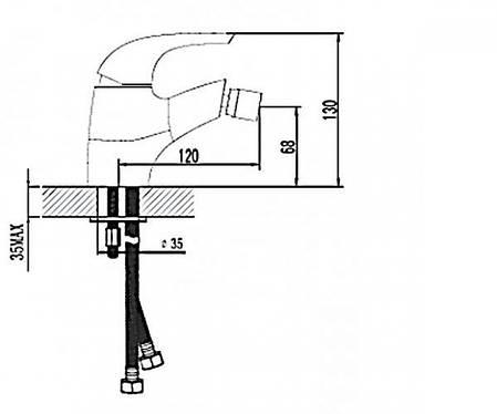 Змішувач для біде RUBINETA Forte-16 (540011), фото 2