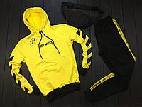 Спортивный стильный костюм OFF-WHITE желтый