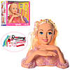 Лялька DEFA 8415 голова для зачісок, плойка, косметика, заколочки, 2 види, кор., 31,5-27-13,5 см.