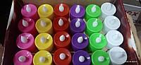 Светодиодная свеча чайная цветные (упаковка 24шт)