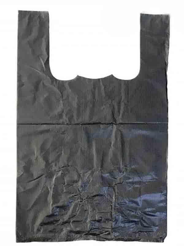 Пакет майка 25х38 Черный 100шт