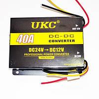 Автомобильный преобразователь напряжения UKC 24В в 12В 40A