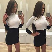 """Платье черно- белое """"Дарина - НП 33"""""""