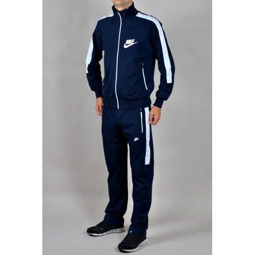 Спортивный костюм Найк, мужской костюм Nike, темно-синий, трикотажный