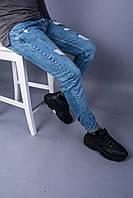 Мужские стильные джинсы светлые, фото 1