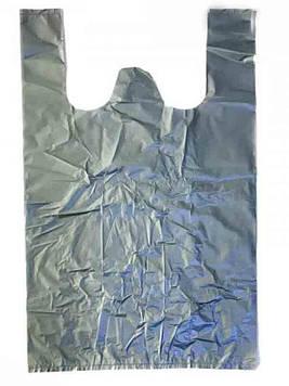 Пакет майка 35х55 Серый 100шт