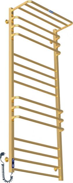Полотенцесушитель PALADII Эстет с полкой электро 1200х600х305 мм (ЕС006ПLG) золото
