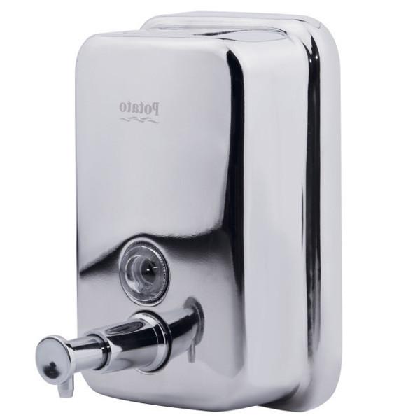 Дозатор для жидкого мыла 500 мл металл Potato P405-5 хром