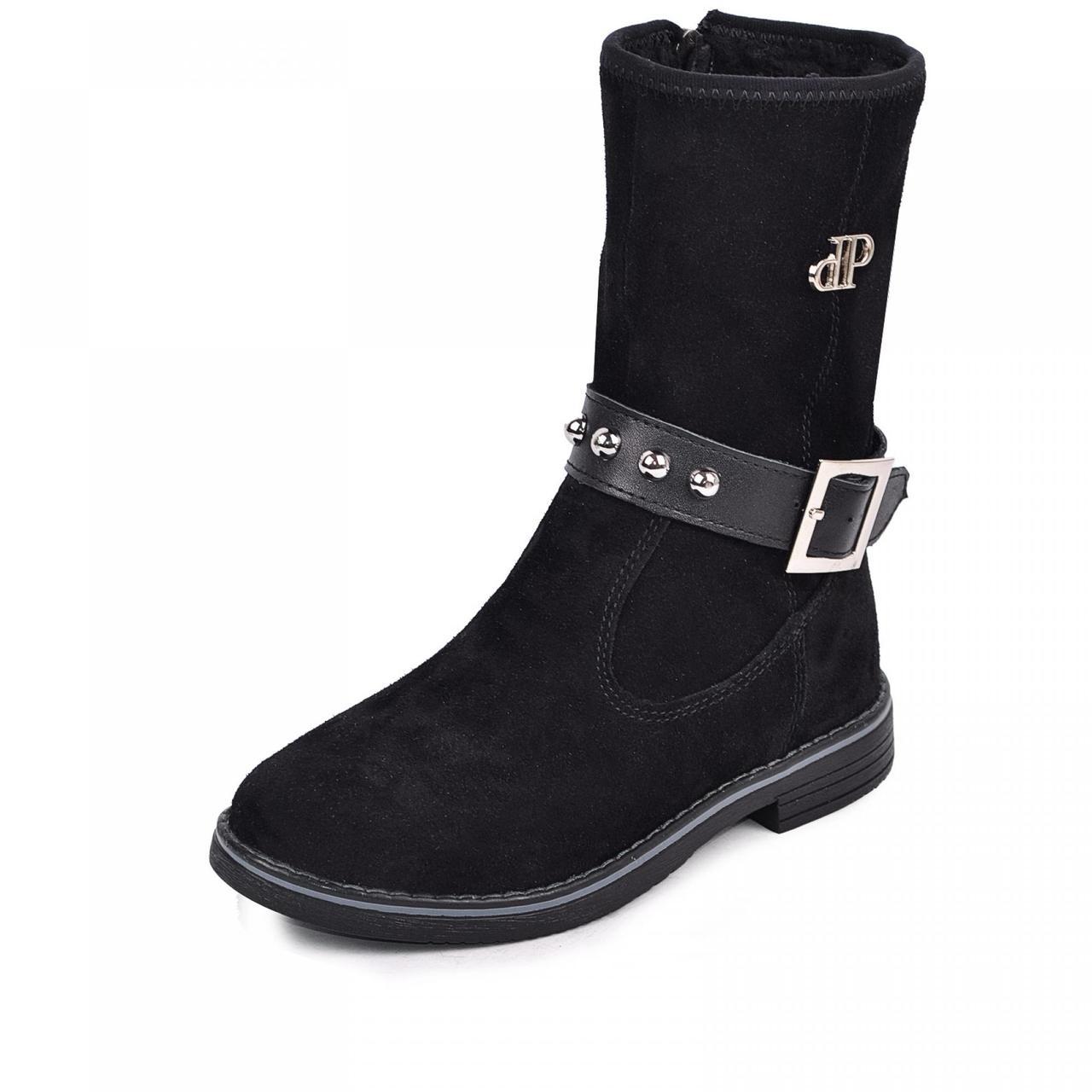 Жіночі черевики чорні з натуральної шкіри замш р р. 35 36 37 38 39