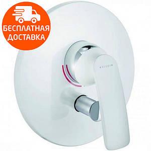 Внешняя часть смесителя для ванны скрытого монтажа Kludi Balance 526509175 белый/хром