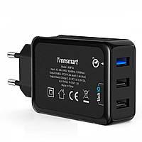 Сетевое зарядное устройство Tronsmart W3PTA Quick Charge 3.0 42W 3xUSB Black