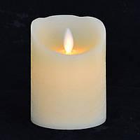 Беспламенная восковая свеча с подвижным пламенем, код: 710345
