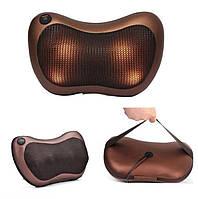 Роликовый массажер для спины и шеи Massage pillow GHM 8028 (массажная подушка), фото 1