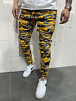 Мужские модные джинсы камуфляжные ТОП качество