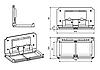 Пеленальный столик настенный откидной горизонтальный FG1689, фото 7