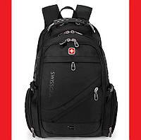 Рюкзак городской Swissgear 8810 + Чехол Black