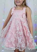 Нарядное детское платье (шелк+евросетка)