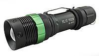 Тактический фонарик Police BL-8455 с зуммом Green