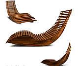 Лежак качалка из дерева акации, фото 3