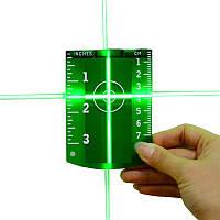 Мишень магнитная для зелёного лазерного нивелира-УСИЛЕННЫЕ МАГНИТЫ