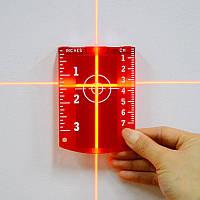 Мишень магнитная для красного лазерного нивелира - УСИЛЕННЫЕ МАГНИТЫ, фото 1
