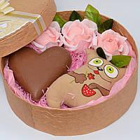Сладкий подарочный набор девушке. Мягкая игрушка. Букет из конфет. Набор на 8 марта.