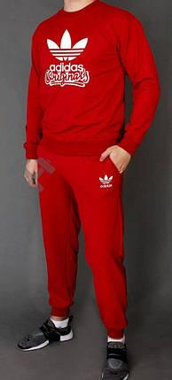Спортивний костюм Адідас, чоловічий костюм Adidas червоний, трикотажний, фото 2