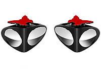 Двойное зеркало заднего вида для видимости слепой зоны, 360 градусов-2 шт 2 шт. Левое + Правое Черный