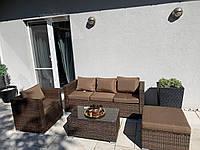 Плетеный комплект мебели из ротанга BORNEO диван, кресло, пуф + столик!