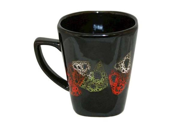 """Чашка керамика 280 мл Камушки черный упаковка 6 шт """"Полигенько"""", фото 2"""