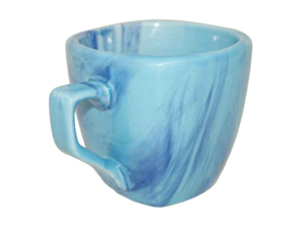 """Чашка керамика 210 мл Радуга голубая упаковка 6 шт """"Полигенько"""""""