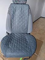 Накидки на сиденья передний комплект. Серый