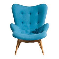 Кресло Флорино, мягкое, дерево бук, цвет голубой